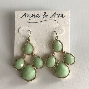 Anna & Ava earrings gold and green
